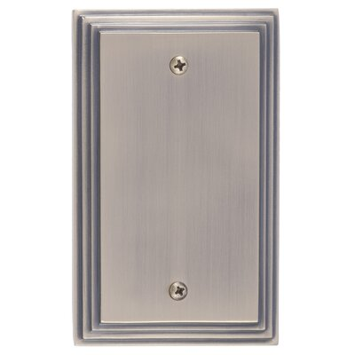 Classic Steps Single Blank Plate Finish: Antique Brass
