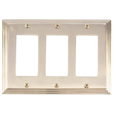 Classic Steps Triple GFCI Plate Finish: Polished Brass
