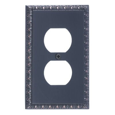 Egg and Dart Single Outlet Plate Finish: Venetian Bronze