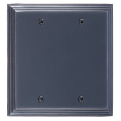Classic Steps Double Blank Plate Finish: Venetian Bronze