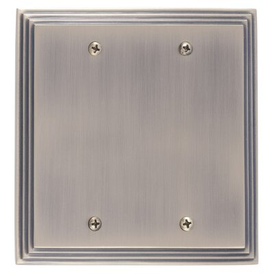 Classic Steps Double Blank Plate Finish: Antique Brass