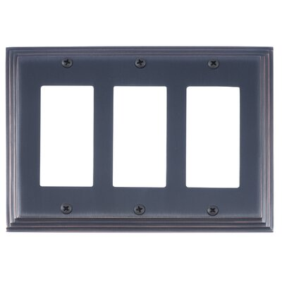 Classic Steps Triple GFCI Plate Finish: Venetian Bronze