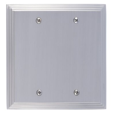 Classic Steps Double Blank Plate Finish: Satin Nickel