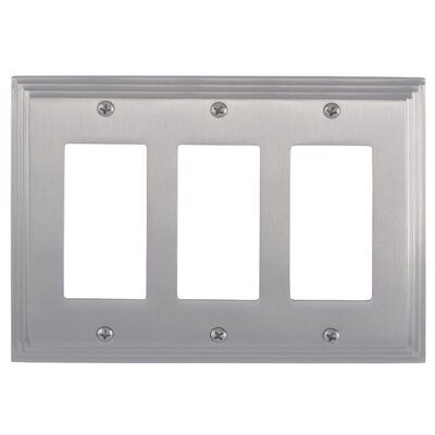 Classic Steps Triple GFCI Plate Finish: Satin Nickel