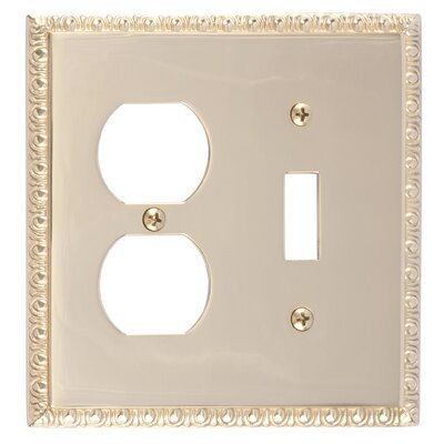 Egg and Dart Outlet Plate Finish: Polished Brass