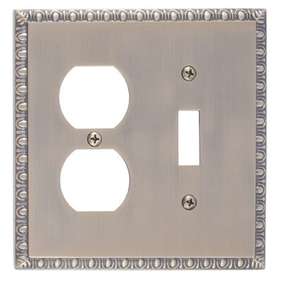 Egg and Dart Outlet Plate Finish: Antique Brass