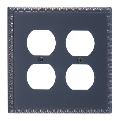 Egg and Dart Double Outlet Plate Finish: Venetian Bronze