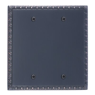 Egg and Dart Double Blank Plate Finish: Venetian Bronze