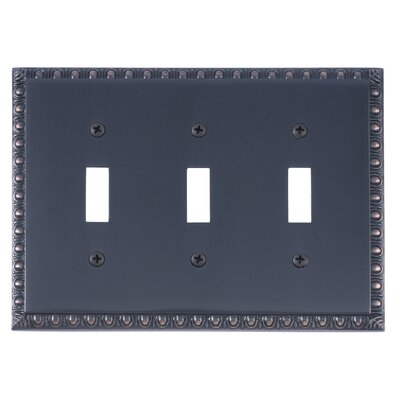 Egg and Dart Triple Switch Plate Finish: Venetian Bronze