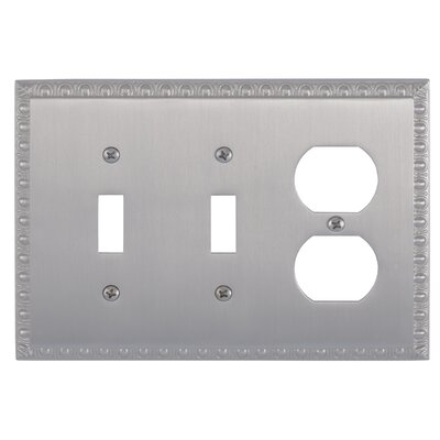 Egg and Dart Outlet Plate Finish: Satin Nickel