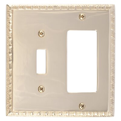 Egg and Dart GFCI Plate Finish: Polished Brass