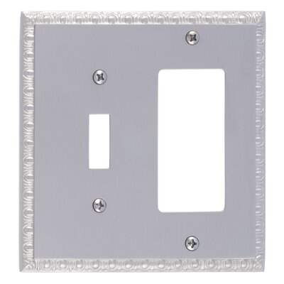 Egg and Dart GFCI Plate Finish: Satin Nickel
