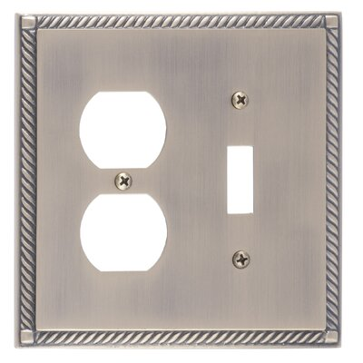 Georgian Outlet Plate Finish: Antique Brass