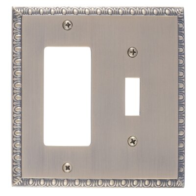 Egg and Dart GFCI Plate Finish: Antique Brass