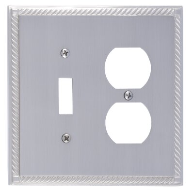 Georgian Outlet Plate Finish: Satin Nickel