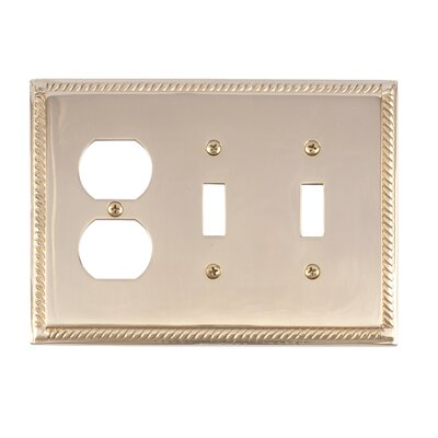 Georgian Outlet Plate Finish: Polished Brass