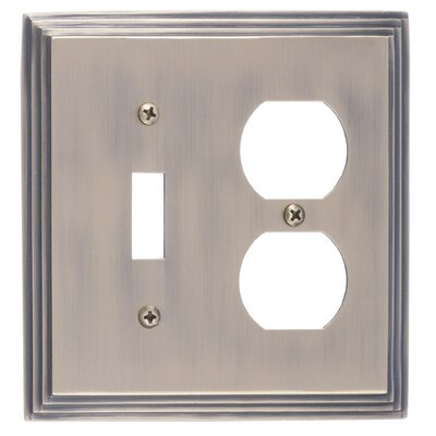 Classic Steps Double Outlet Plate Finish: Antique Brass