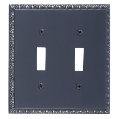Egg and Dart Double Switch Plate Finish: Venetian Bronze
