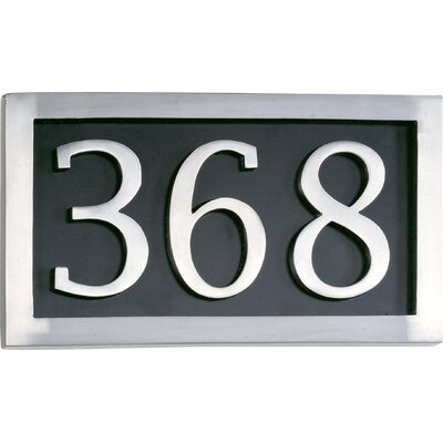 Omar 1-line Wall Address Plaque