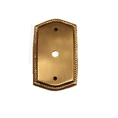 Rope Single TV Light Switch Plate (Set of 3) Finish: Antique Brass