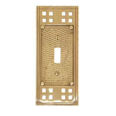 Arts and Crafts Single Switch Wall Plate (Set of 2) Finish: Polished Brass