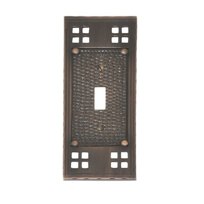 Arts and Crafts Single Switch Wall Plate (Set of 2) Finish: Venetian Bronze