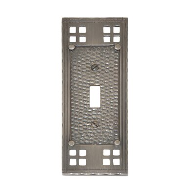 Arts and Crafts Single Switch Wall Plate (Set of 2) Finish: Antique Nickel