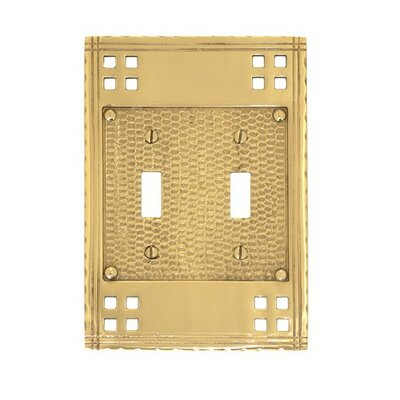 Double Switch Wall Plate (Set of 2) Finish: Polished Brass