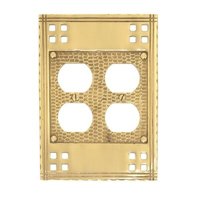 Arts and Crafts Double Outlet Wall Plate (Set of 2) Finish: Satin nickel