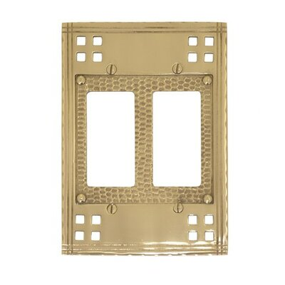 Double GFCI Switch Wall Plate (Set of 2) Finish: Antique Brass