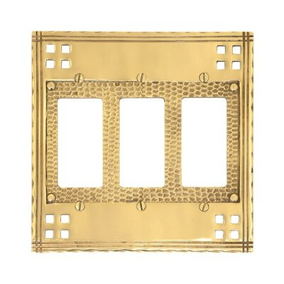 Arts and Crafts Triple GFCI Wall Plate (Set of 2) Finish: Polished Brass