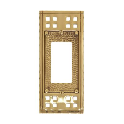 Arts and Crafts Single GFCI Wall Plate (Set of 2) Finish: Antique Brass