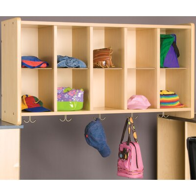 2000 Series 10-Cubbie Wall Storage Frame Finish: Morning Blue, Assembled: No