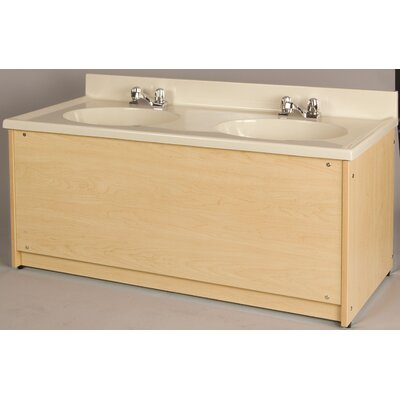 1000 Series 122 Double Bathroom Vanity Set Finish: Pearl White