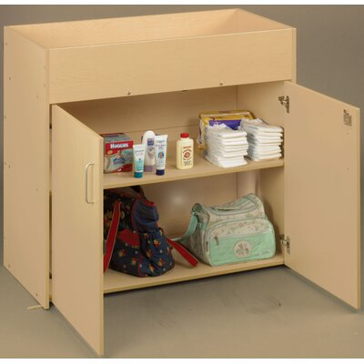 Eco Laminate Infant Changing Table with Doors Color: Maple 3091A73