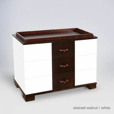 Morgan 3 Drawer Changer Finish: White / Stained Walnut Morg3DC-Wood-W/StainWaln