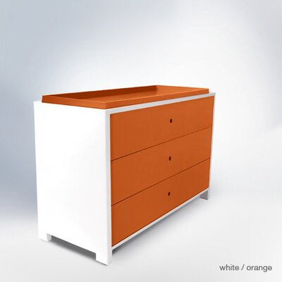 Parker 3 Drawer Changer Finish: Orange Park3DC-D&T-OR