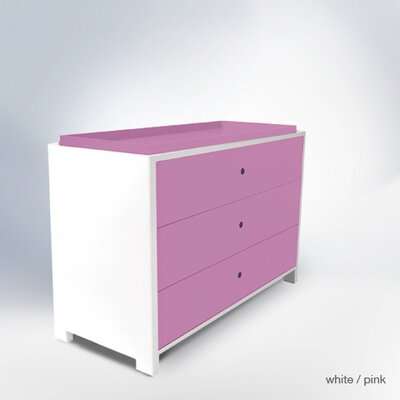 Parker 3 Drawer Changer Finish: Pink Park3DC-D&T-PI