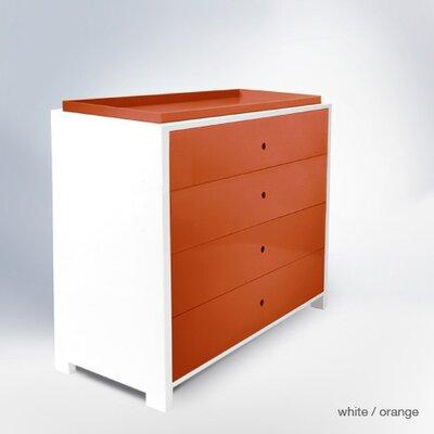 Parker 4 Drawer Changer Finish: Orange Park4DC-D&T-OR