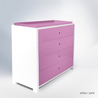 Parker 4 Drawer Changer Finish: Pink Park4DC-D&T-PI
