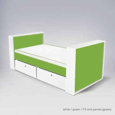 Furniture financing Parker Bed with Drawers Finish: Gre...