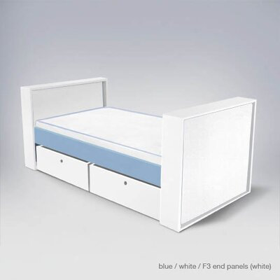 Bad credit financing Parker Bed with Drawers Finish: Lig...
