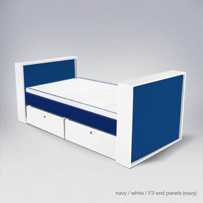 Easy furniture financing Parker Bed with Drawers Finish: Old...