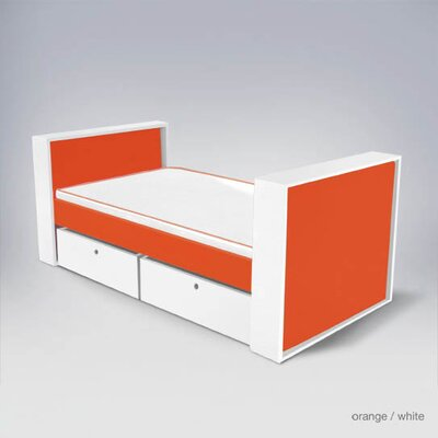 Furniture leasing Parker Bed with Drawers Finish: Ora...