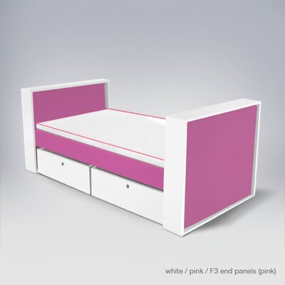 Loan for furniture Parker Bed with Drawers Finish: Pin...