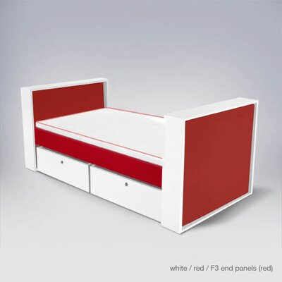 No credit financing Parker Bed with Drawers Finish: Red...