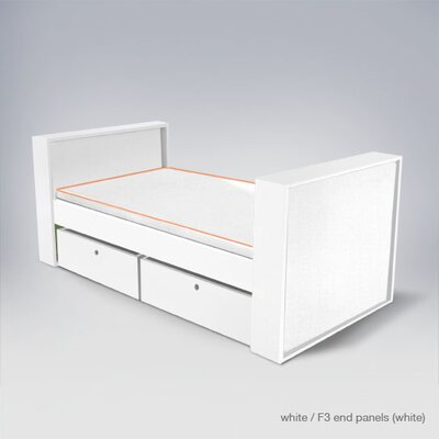 In store financing Parker Bed with Drawers Finish: Whi...