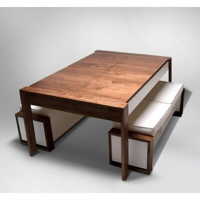 The Table Bench Wood Finish: Stained Walnut/White, Size: 79