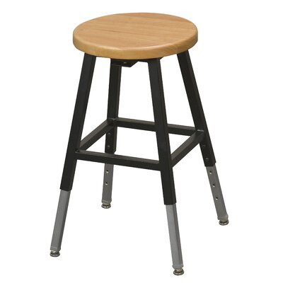 Lab Adjustable Height Bar Stool Upholstery: Black