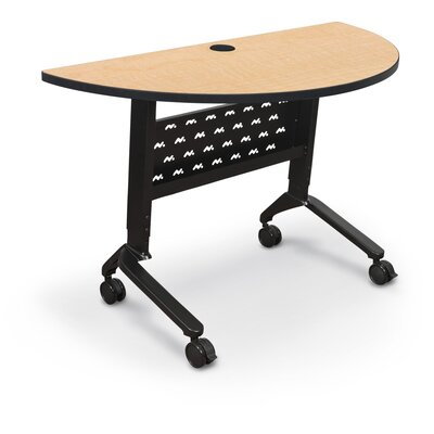 48 W Nido Flipper Height Adjustable Training Table with Wheels Tabletop Finish: Fusion Maple